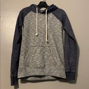 Jackets & Blazers - Blue and grey pullover hoodie size medium